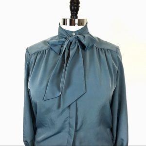 Pendleton Vintage  Sophisticates Sz L Blue Blouse